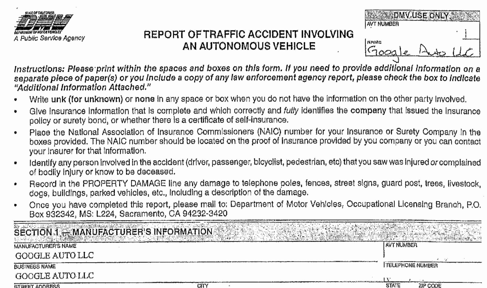 Vehicle Accident Report form New Cult Of android People Can T Stop Running Into Google S