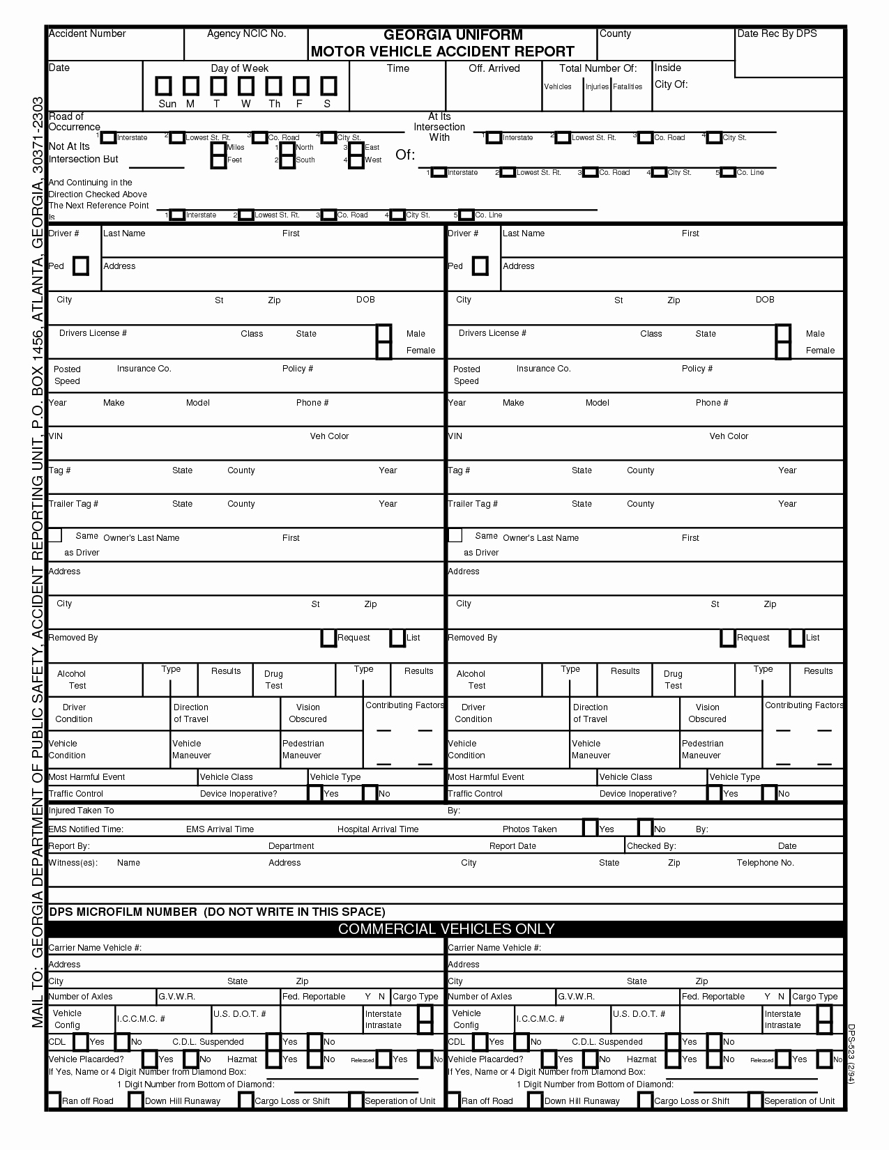 Vehicle Accident Report form Template Lovely Tario Motor Vehicle Accident Report Impremedia