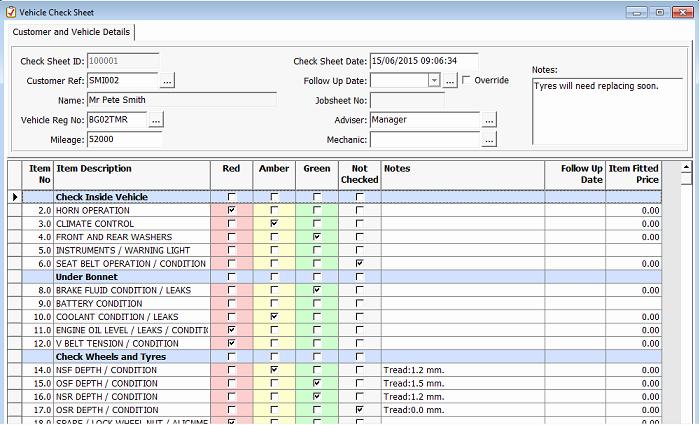 Vehicle Check Sheet Template Fresh Vhc Vehicle Health Check Gds