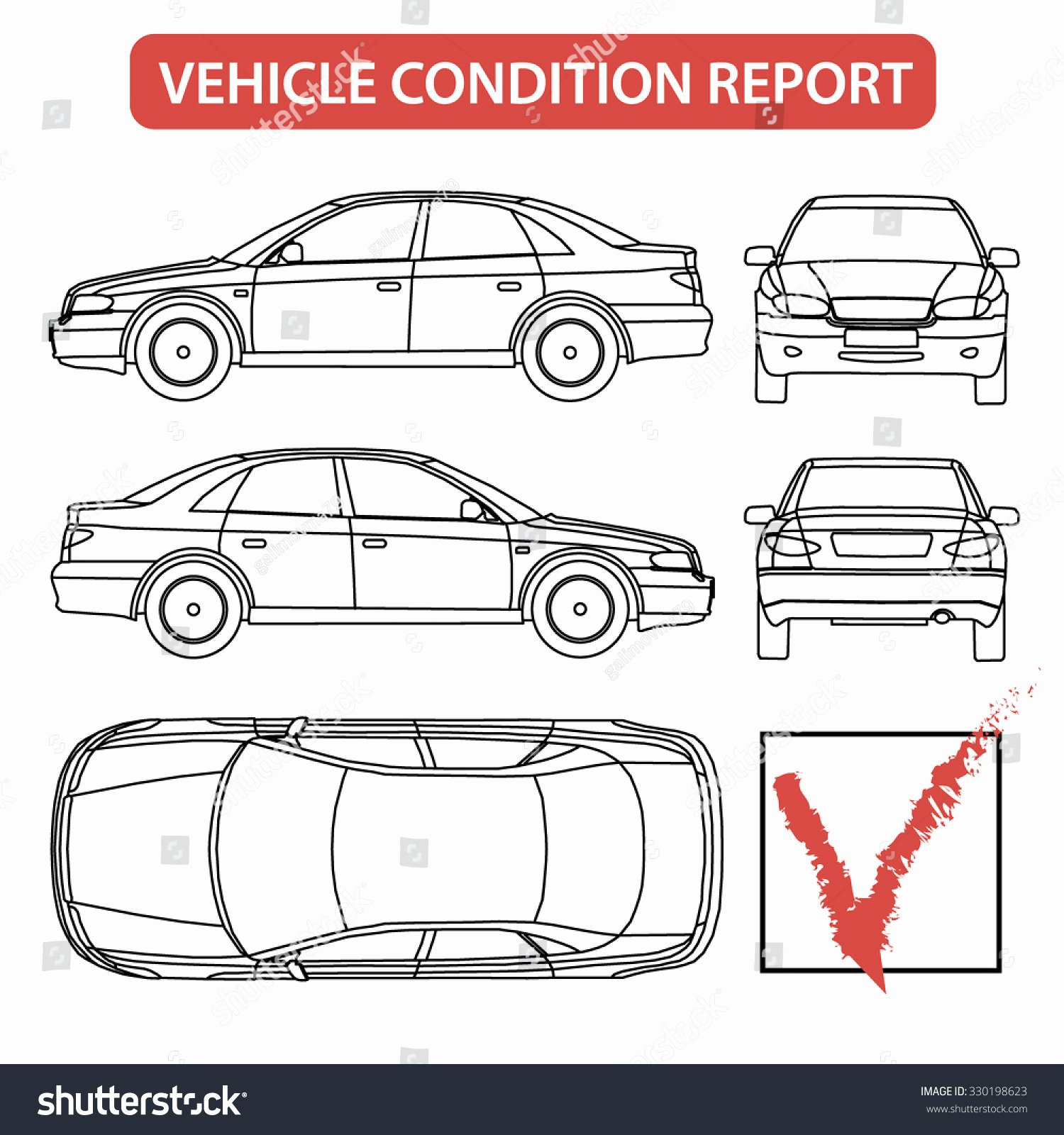 Vehicle Check Sheet Template Inspirational Car Condition form Vehicle Checklist Auto Stock Vector