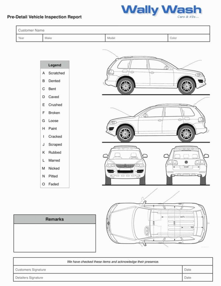 Vehicle Check Sheet Template Unique How to Leave Rental Car Checklist form