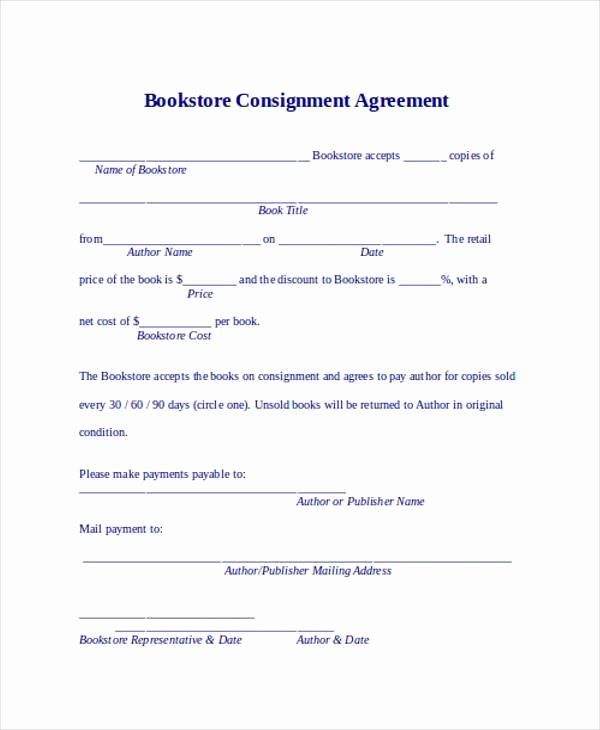 Vehicle Consignment Agreement Lovely 11 Consignment Agreement form Samples Word Pdf