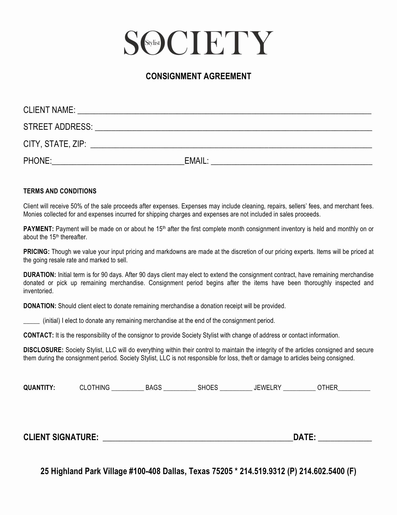 Vehicle Consignment Agreement Lovely Retail Consignment Agreement