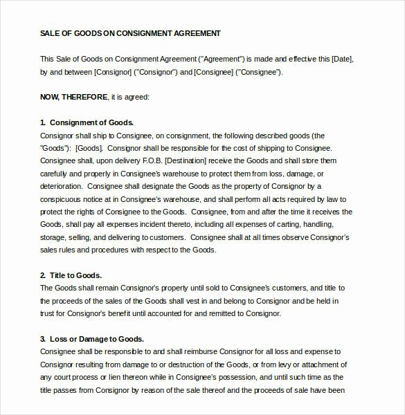 Vehicle Consignment Agreement Luxury 15 Consignment Agreement Samples and Templates – Pdf