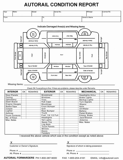 Vehicle Damage Report Template Excel New Image Result for Vehicle Damage Inspection form Template