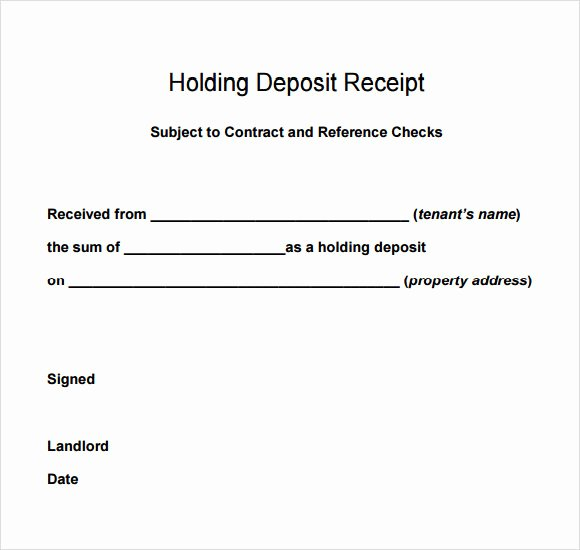 Vehicle Deposit Agreement Inspirational 9 Deposit Receipt Templates Free Samples Examples