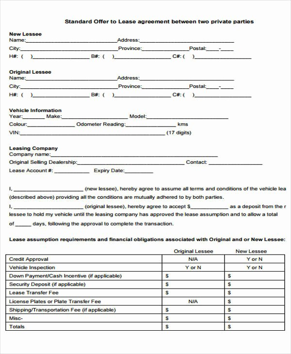 Vehicle Deposit Agreement New 33 Lease Agreement forms In Pdf