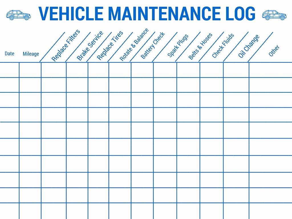 Vehicle Maintenance Checklist Excel Fresh Vehicle Maintenance Log
