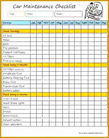 Vehicle Maintenance Spreadsheet Best Of 4 Car Maintenance Schedule Spreadsheet