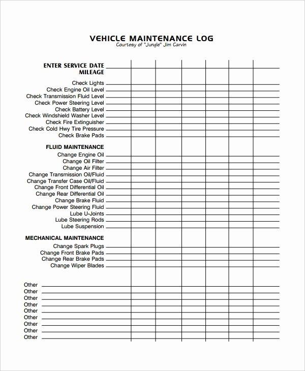 Vehicle Maintenance Spreadsheet Lovely Image Result for Excel Vehicle Maintenance Log