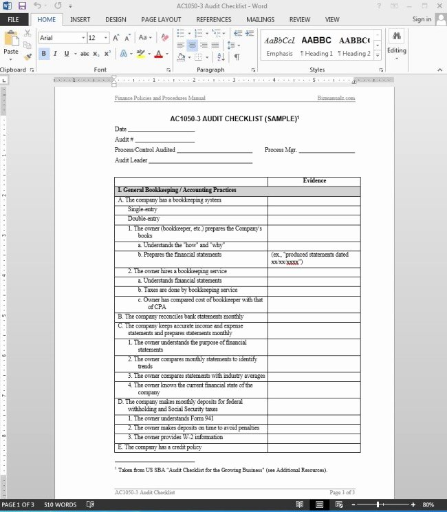 Vendor Audit Checklist Template Best Of 38 Brilliant Template Samples for Audits Thogati
