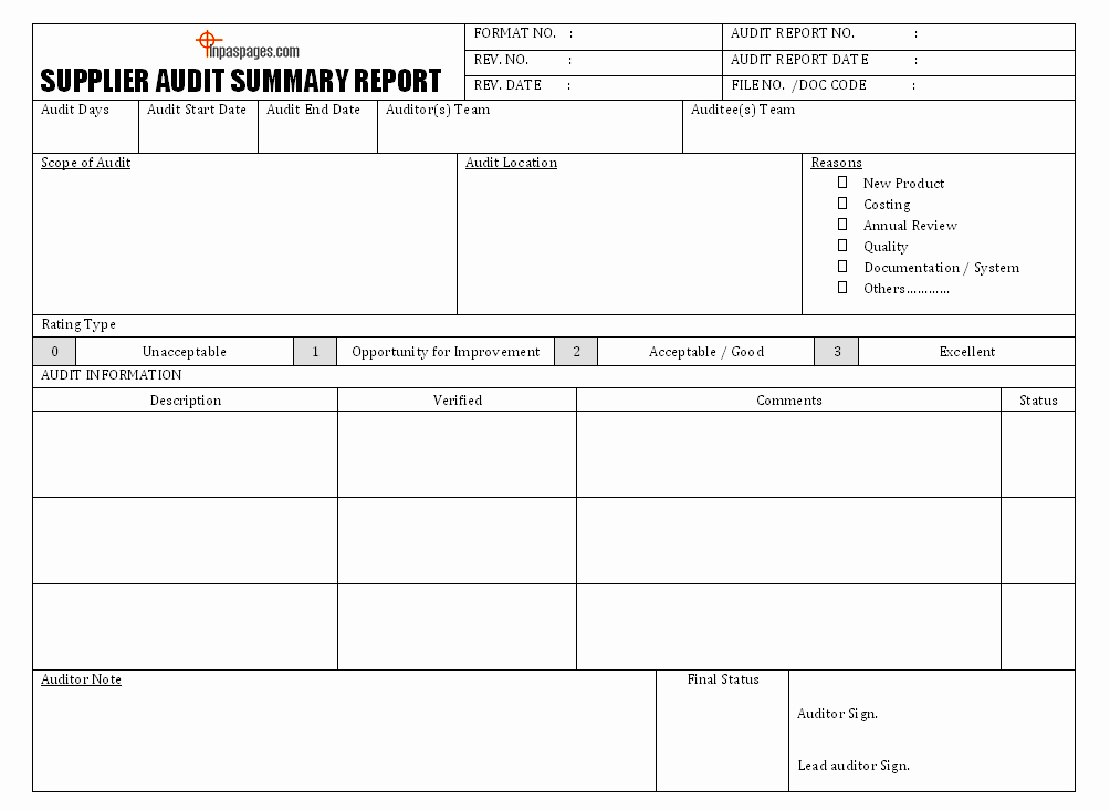 Vendor Audit Checklist Template New Supplier Audit format 9 Things to Know About Supplier Audit