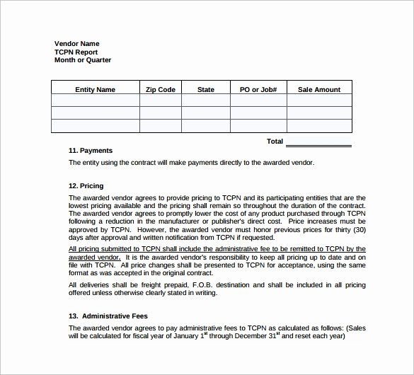 Vendor Contract for event Awesome Vendor Contract Template 9 Download Free Documents In