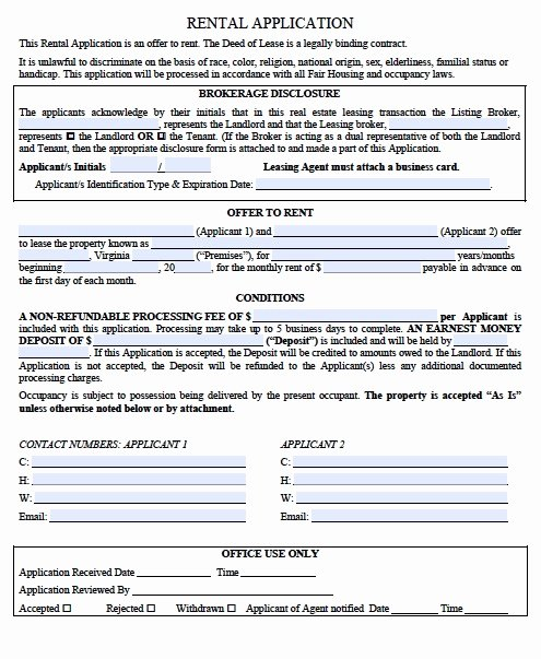Vendor Credit Application Best Of Rental Verification form