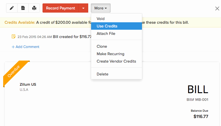 Vendor Credit Application Template Awesome Apply Vendor Credit to Bill Faq