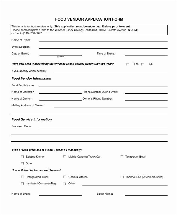 Vendor Credit Application Template Luxury 60 Simple Application forms & Templates In Pdf