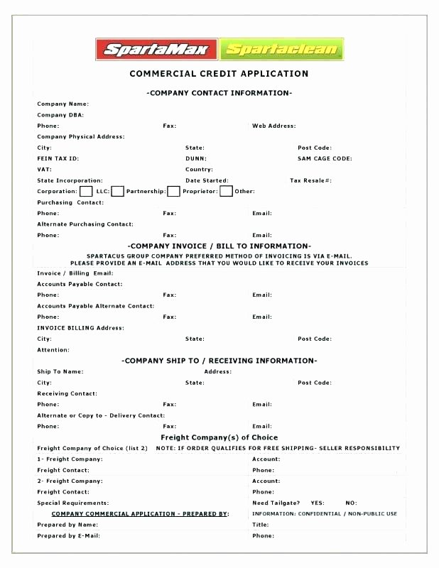 Vendor Credit Application Template Unique 15 Business Credit Letter