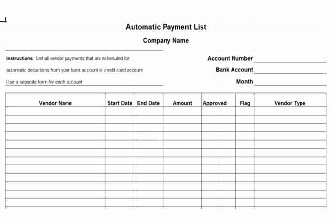Vendor Credit Application Template Unique Internal Control Procedures for Small Business Checklist