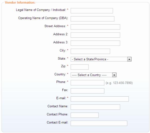 Vendor Information form Awesome How to Add A Vendor Finance