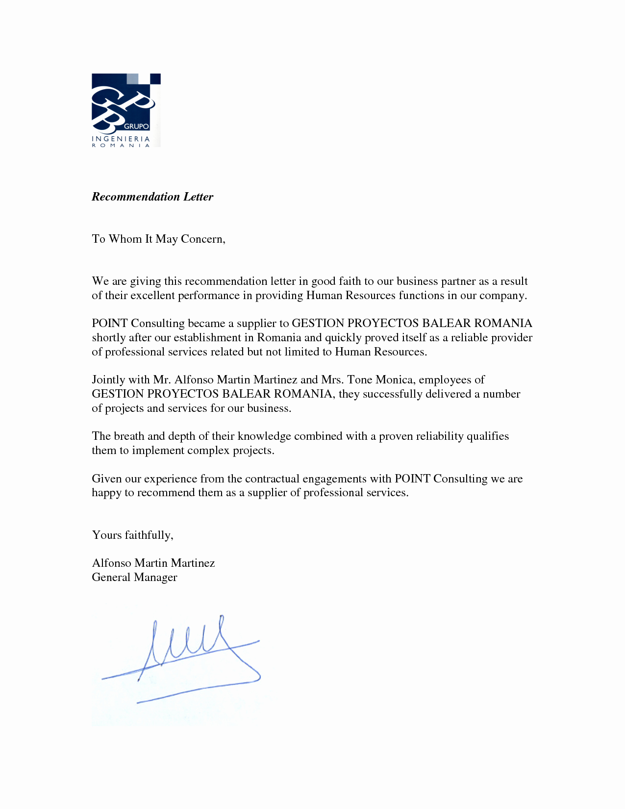 Vendor Recommendation Letter Sample Awesome Best S Of Free Sample Business Letter