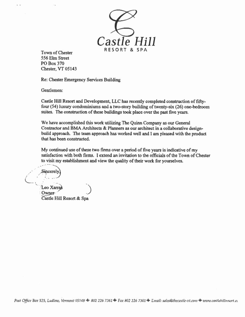 Vendor Recommendation Letter Sample Beautiful General Contractor Warranty Letter Template Gallery