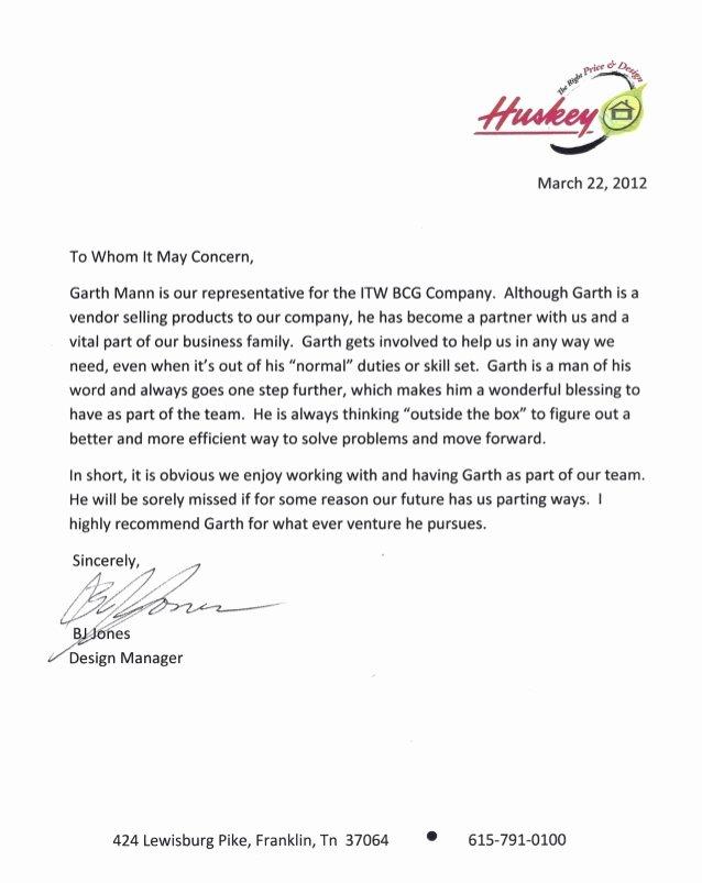Vendor Recommendation Letter Sample Best Of Bj Letter Of Reference