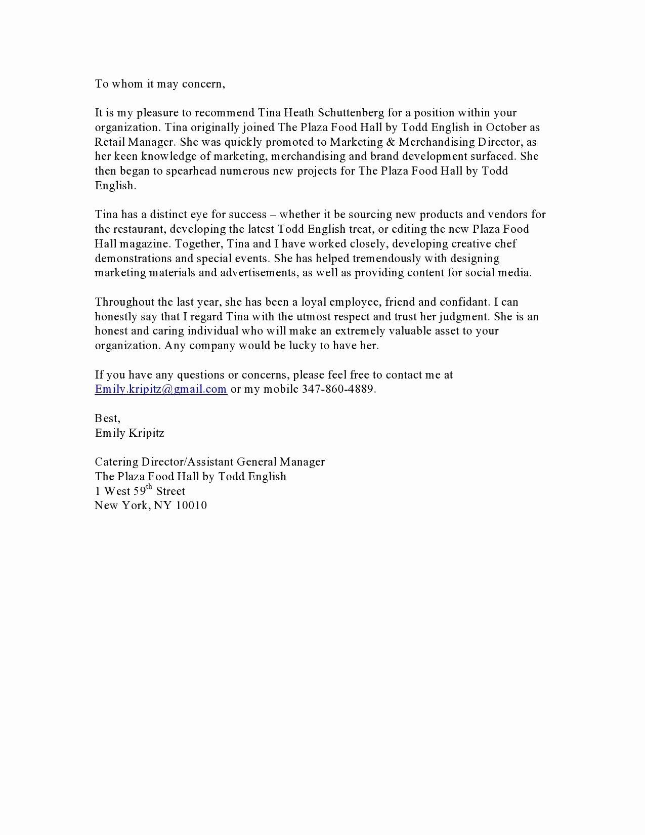 Vendor Recommendation Letter Sample Best Of New Letter Re Mendation Template for A Vendor