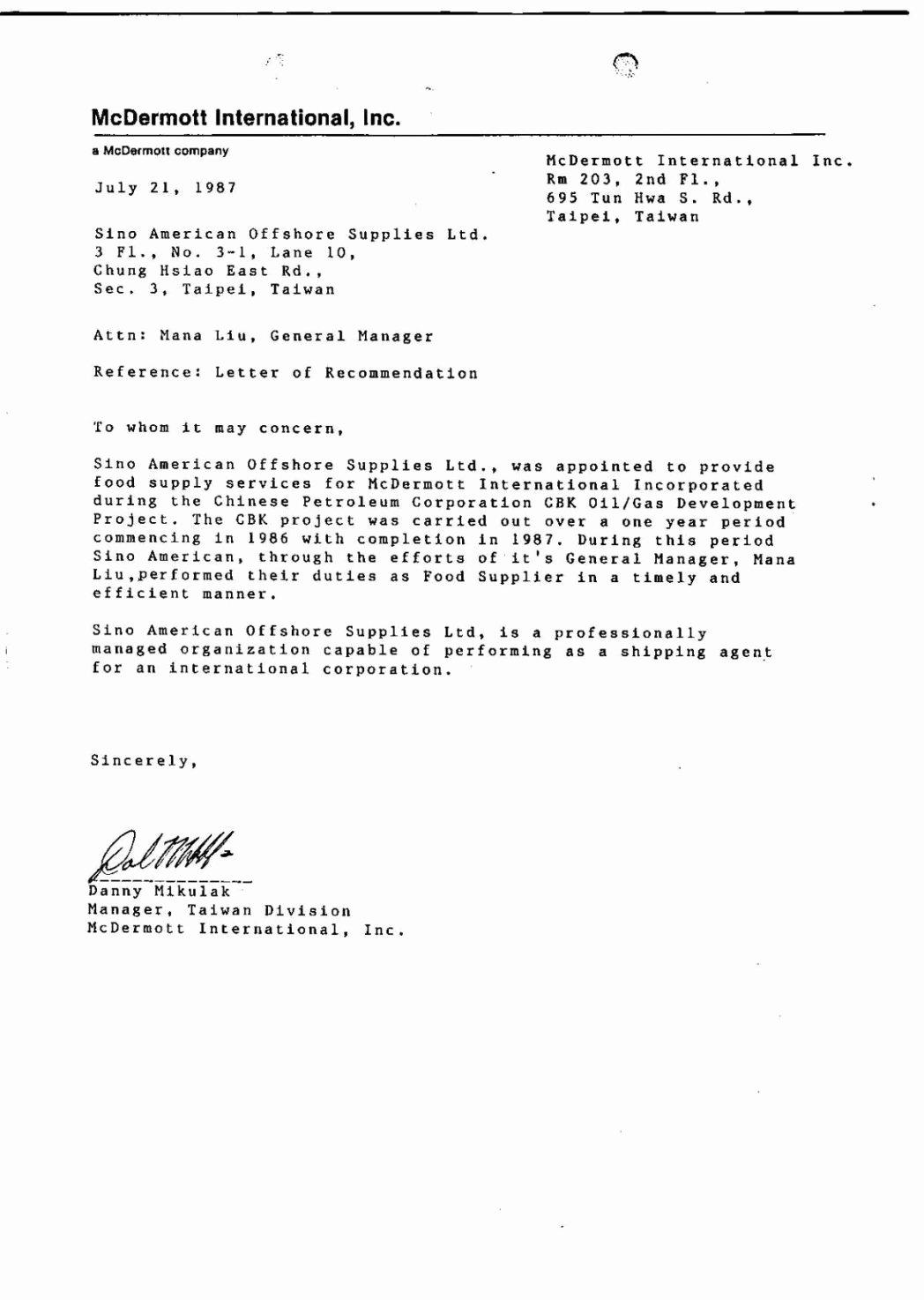 Vendor Recommendation Letter Sample Elegant Best Linkedin Re Mendation Project Manager Example