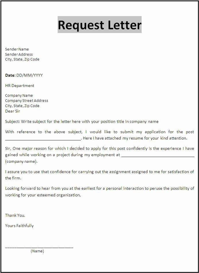 Vendor Recommendation Letter Sample Luxury Request Letter Template