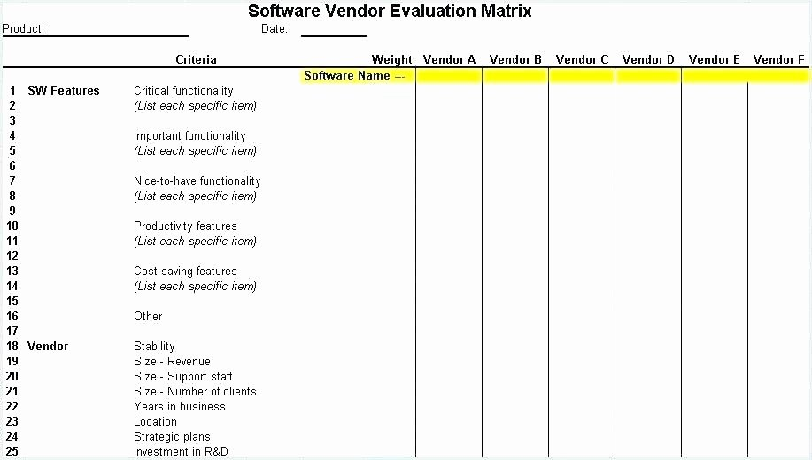 Vendor Scorecard Template Xls Lovely Vendor Selection Scorecard Template – Dhtseekfo
