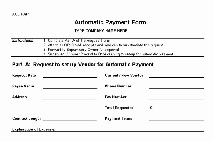 Vendor Setup form Template Best Of Bookkeeping Internal Controls are You Good at