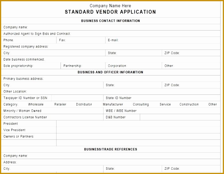 Vendor Setup form Template Elegant 5 New Vendor form Template