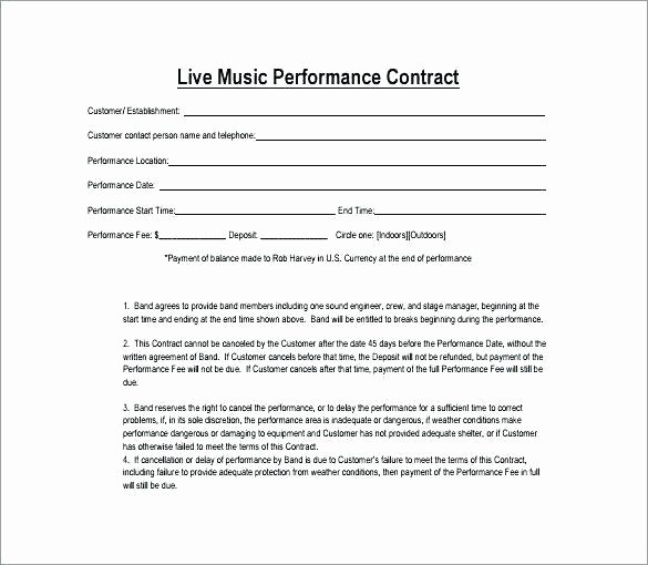 Venue Rental Agreement Template Luxury Booking Agent Contract Template