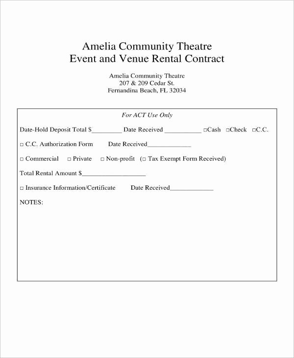 Venue Rental Agreement Template Unique 7 event Venue Contract Templates Pdf Word Google Docs