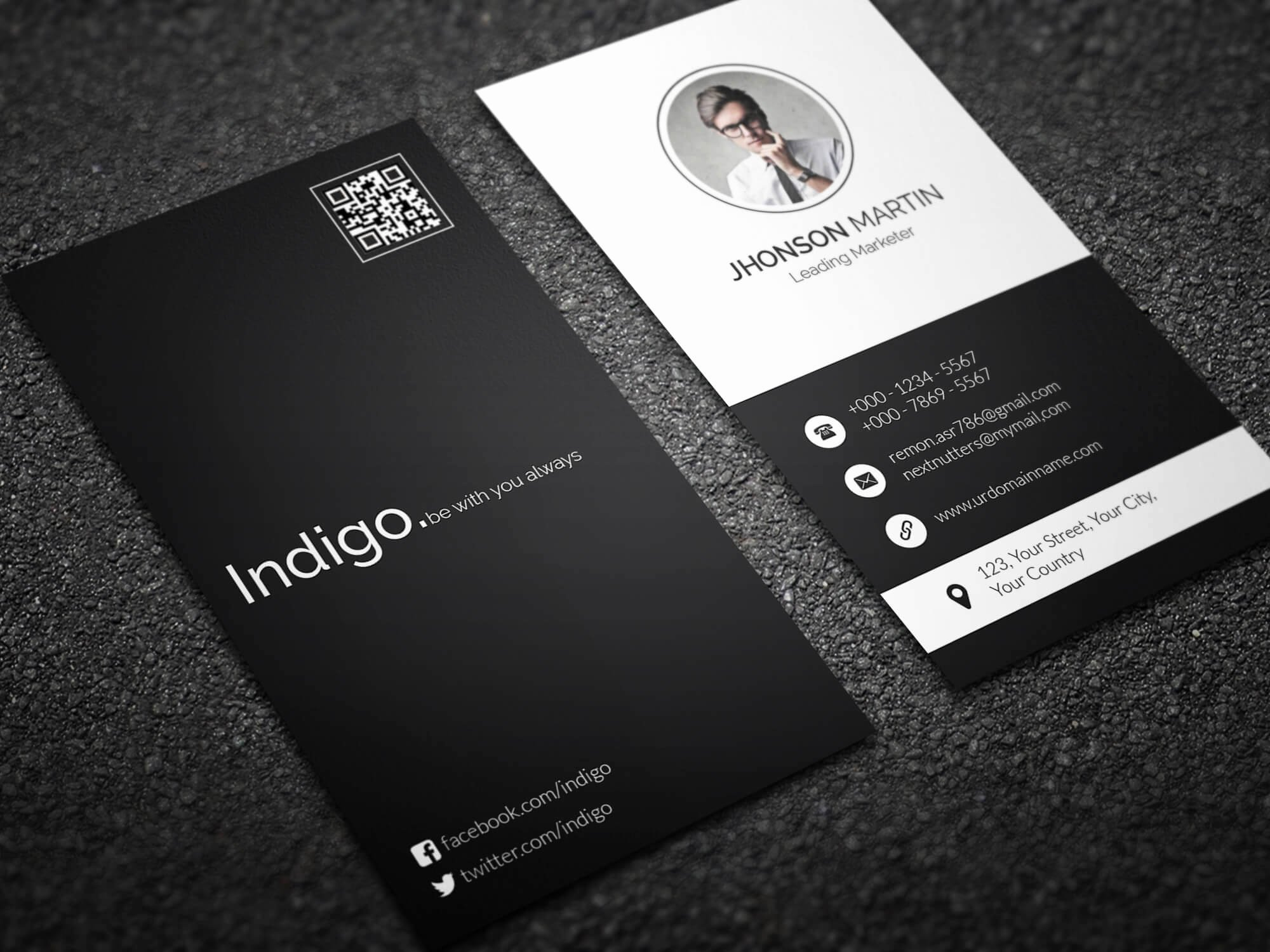 Vertical Postcard Layout Beautiful Minimal Vertical Business Card by Remon92 On Deviantart