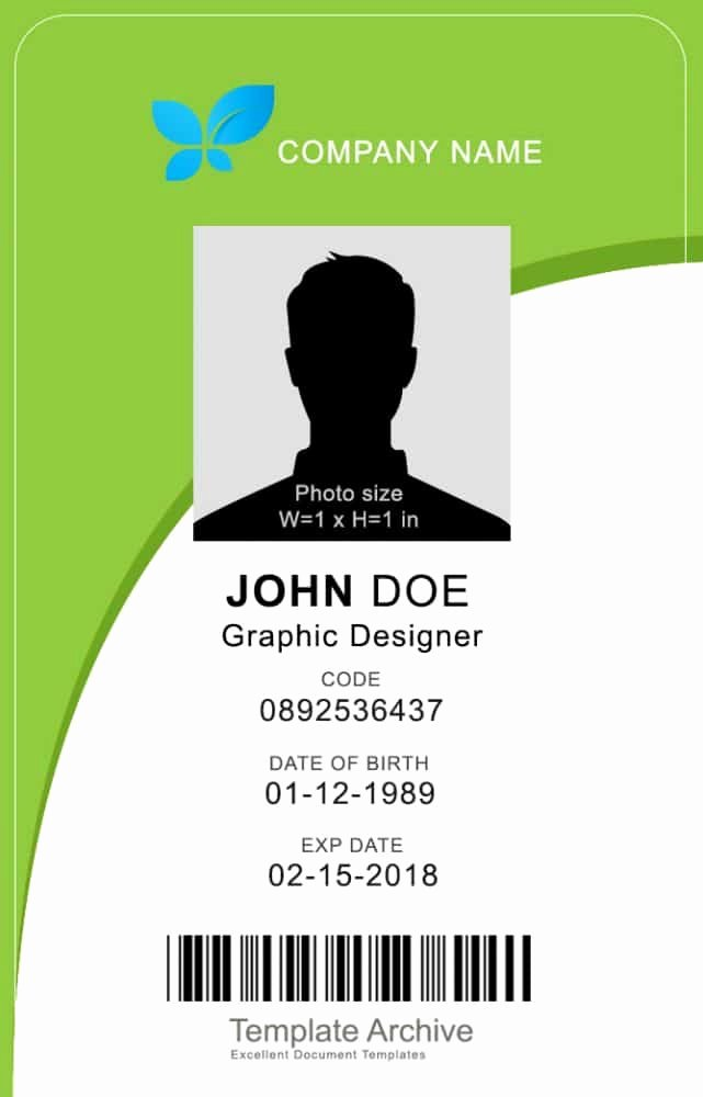 Vertical Postcard Layout Best Of 16 Id Badge & Id Card Templates Free Template Archive