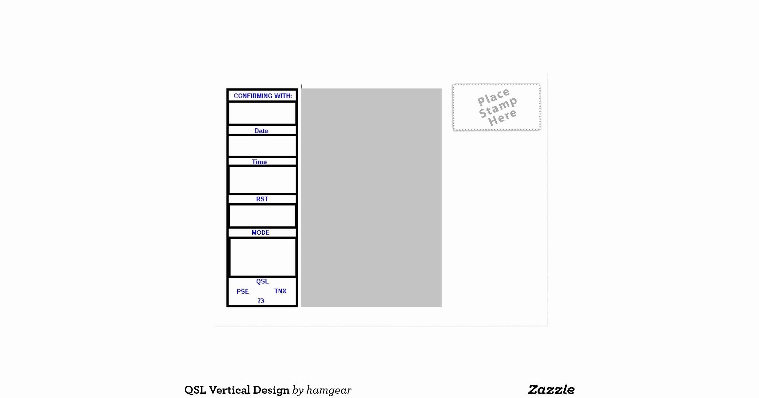 Vertical Postcard Layout Best Of Qsl Vertical Design Postcard