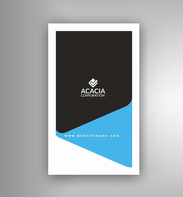 Vertical Postcard Layout Fresh Creative Corporate Business Card Templates
