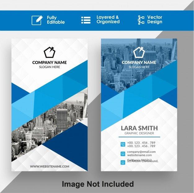 Vertical Postcard Layout Inspirational Vertical Business Card Design Psd File
