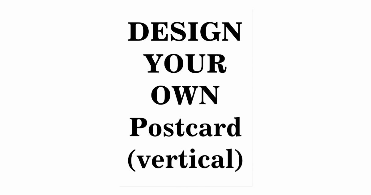 Vertical Postcard Layout Luxury Design Your Own Postcard Vertical