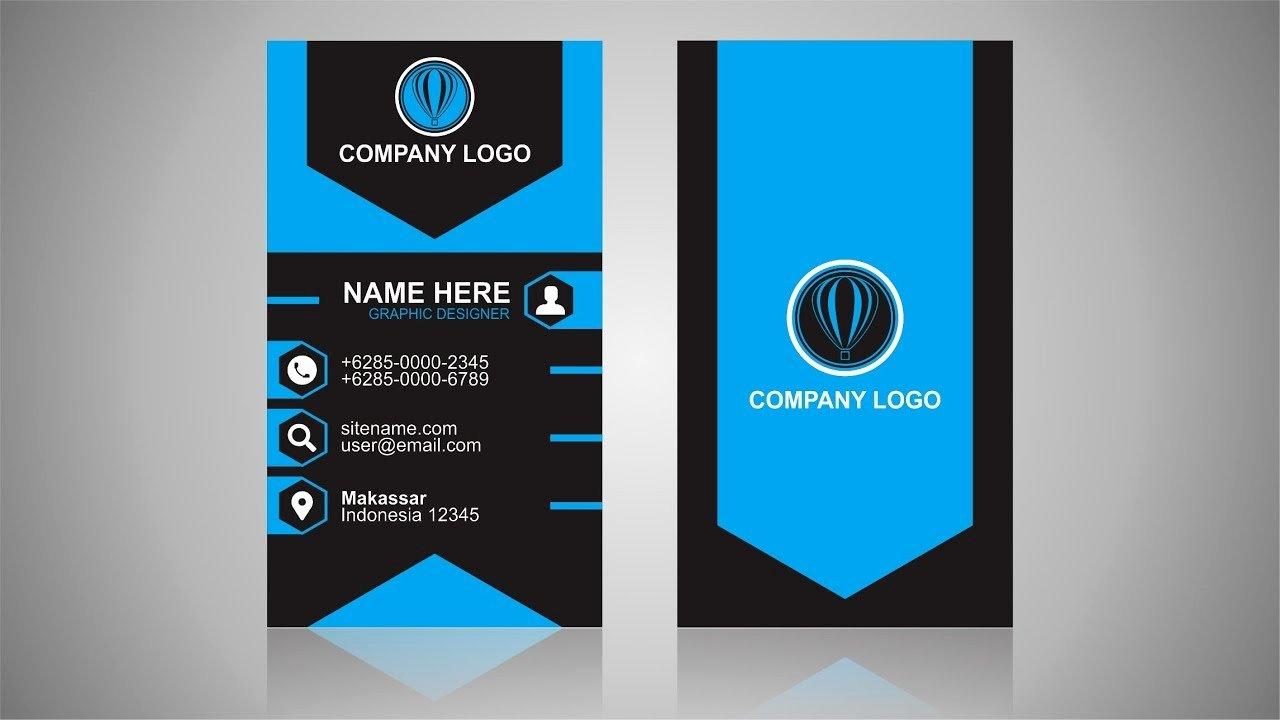 Vertical Postcard Layout New Vertical Business Card Design