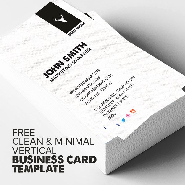 Vertical Postcard Layout Unique Freebie – Vertical Business Card Psd Template