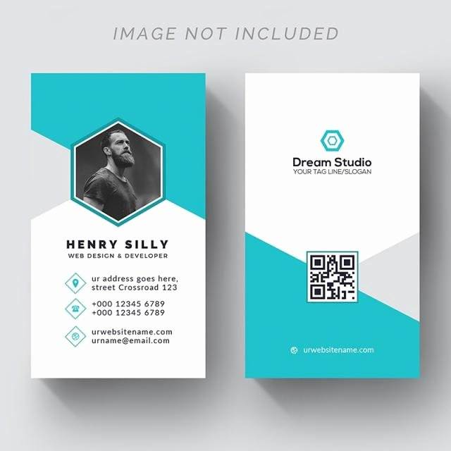 Vertical Postcard Template Awesome Creative Vertical Business Card Template for Free Download