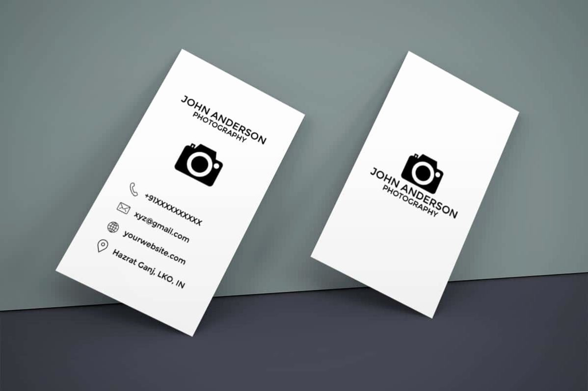 Vertical Postcard Template Awesome Free Graphy Vertical Business Card — Creativetacos