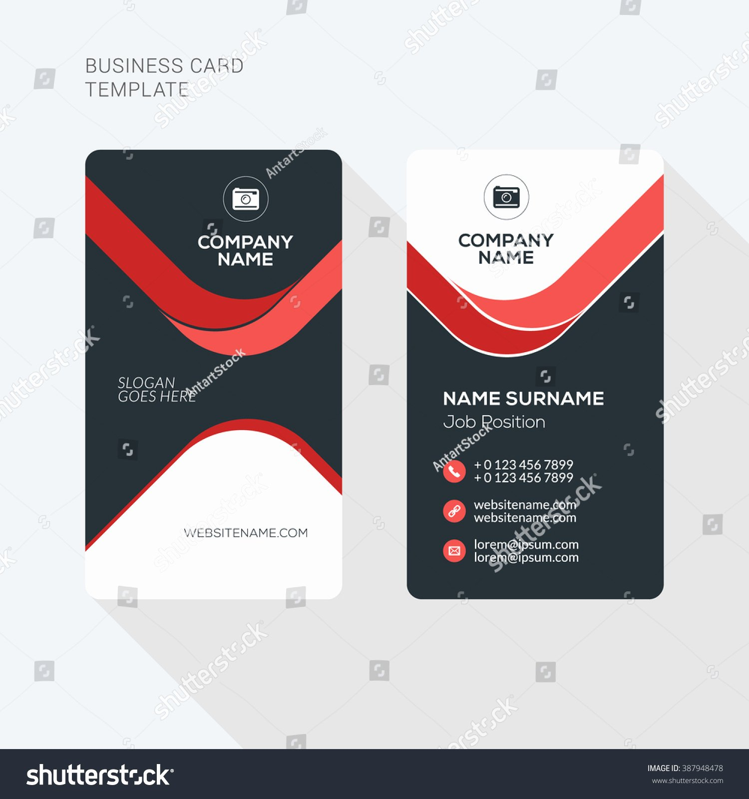 Vertical Postcard Template Best Of Creative Clean Business Card Vector Print Stock Vector