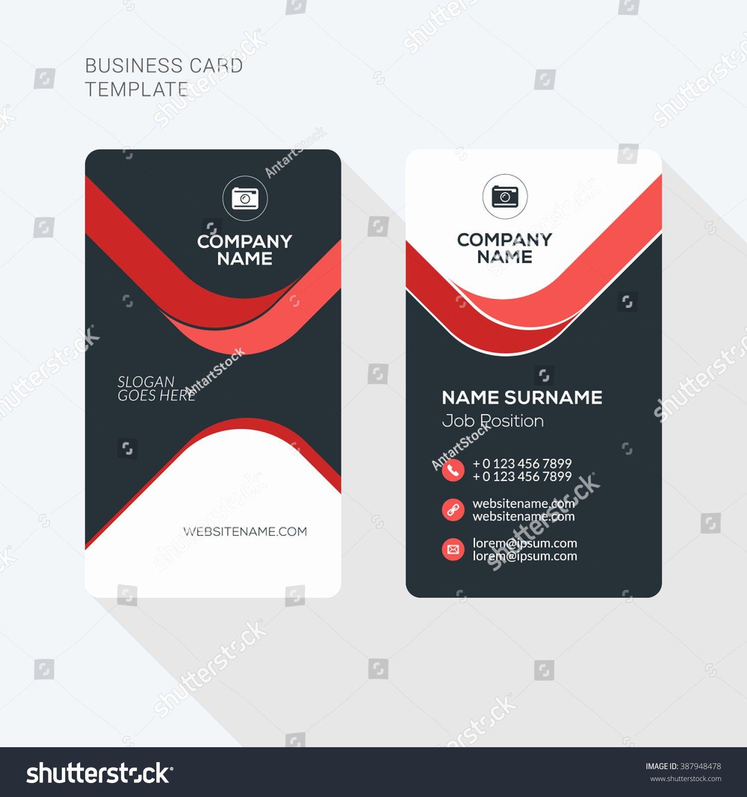 Vertical Postcard Template Best Of Creative Clean Business Card Vector Print Stock Vector