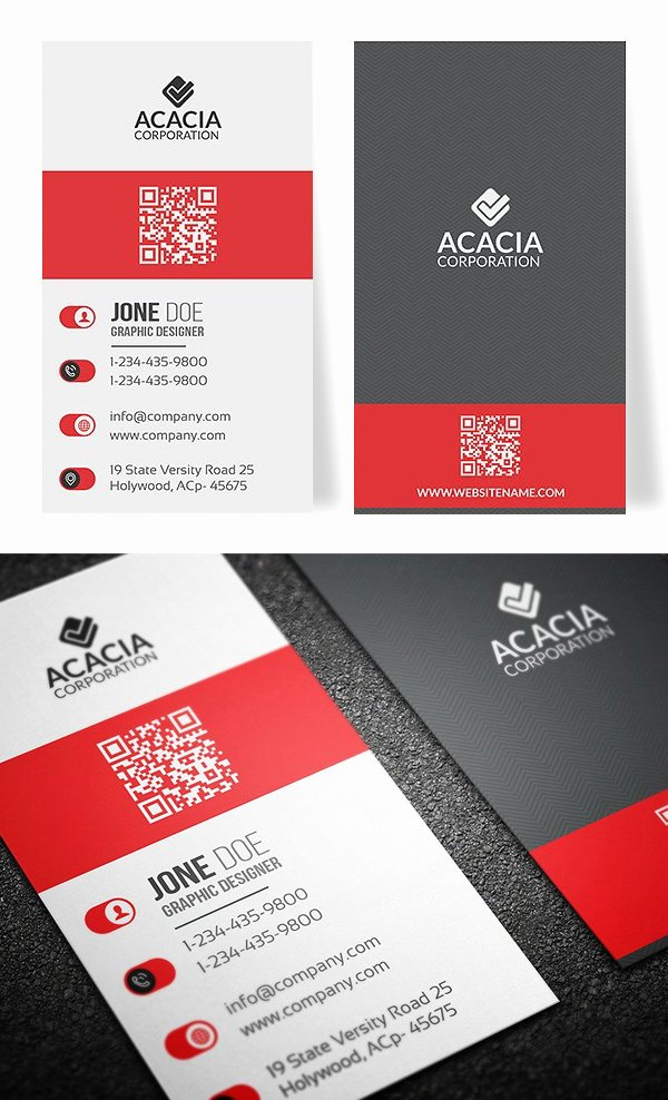 Vertical Postcard Template Lovely 25 New Professional Business Card Templates Print Ready