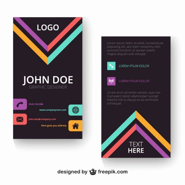 Vertical Postcard Template Lovely Vertical Business Card Template Vector