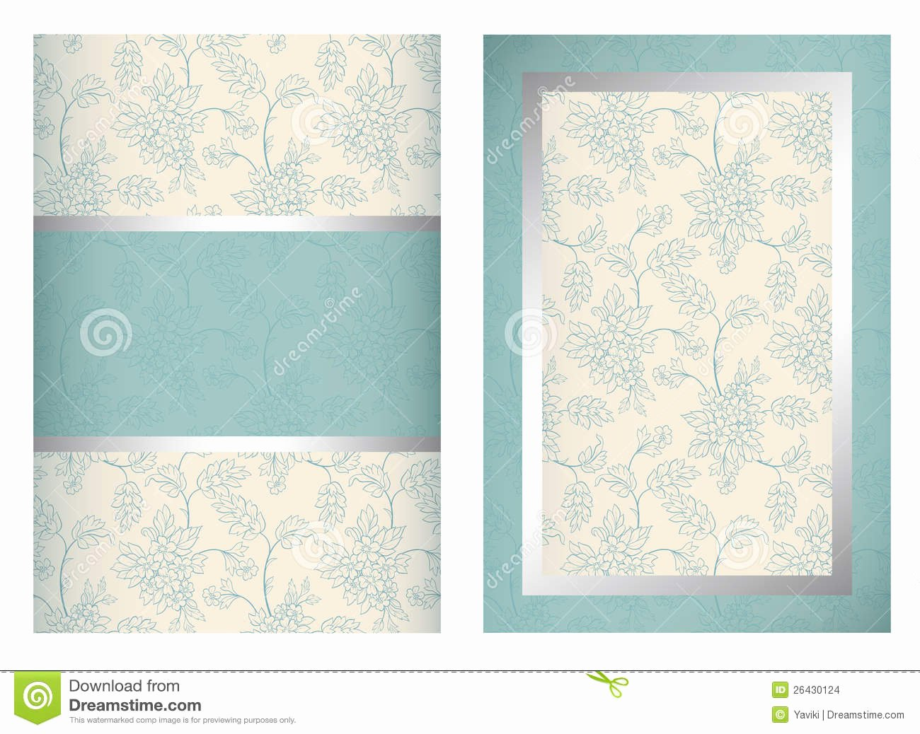 Vertical Postcard Template New Invitation Card Template Vertical Stock Vector Image