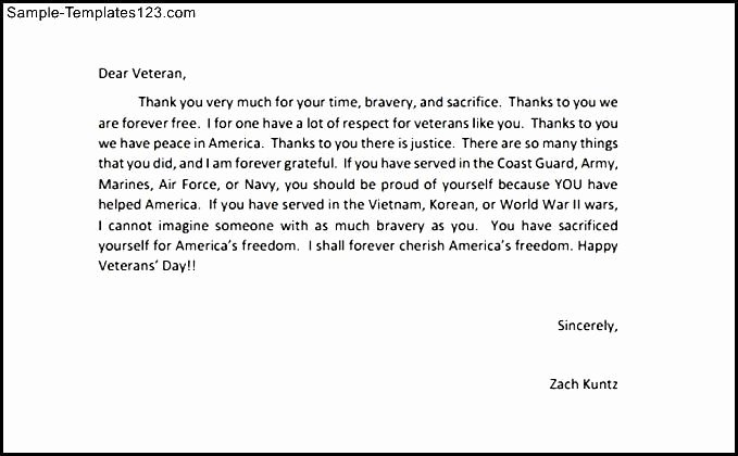 Veterans Day Essay Examples New Thank You Letters to Veterans Example